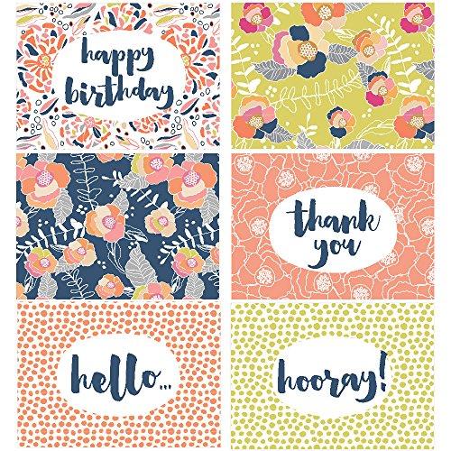 60 Postcards - Vibrant Bloom - 6 Different Images