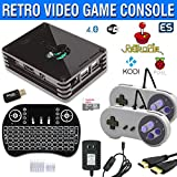 Raspberry Pi 3 Based Retro Video Game System - RetroPie - Kodi - Retro Games - 32GB Edition - Bundle with Wireless Keyboard/Mouse