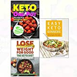 Easy keto dinners and diet for beginners and one pot ketogenic cookbook 3 books collection set