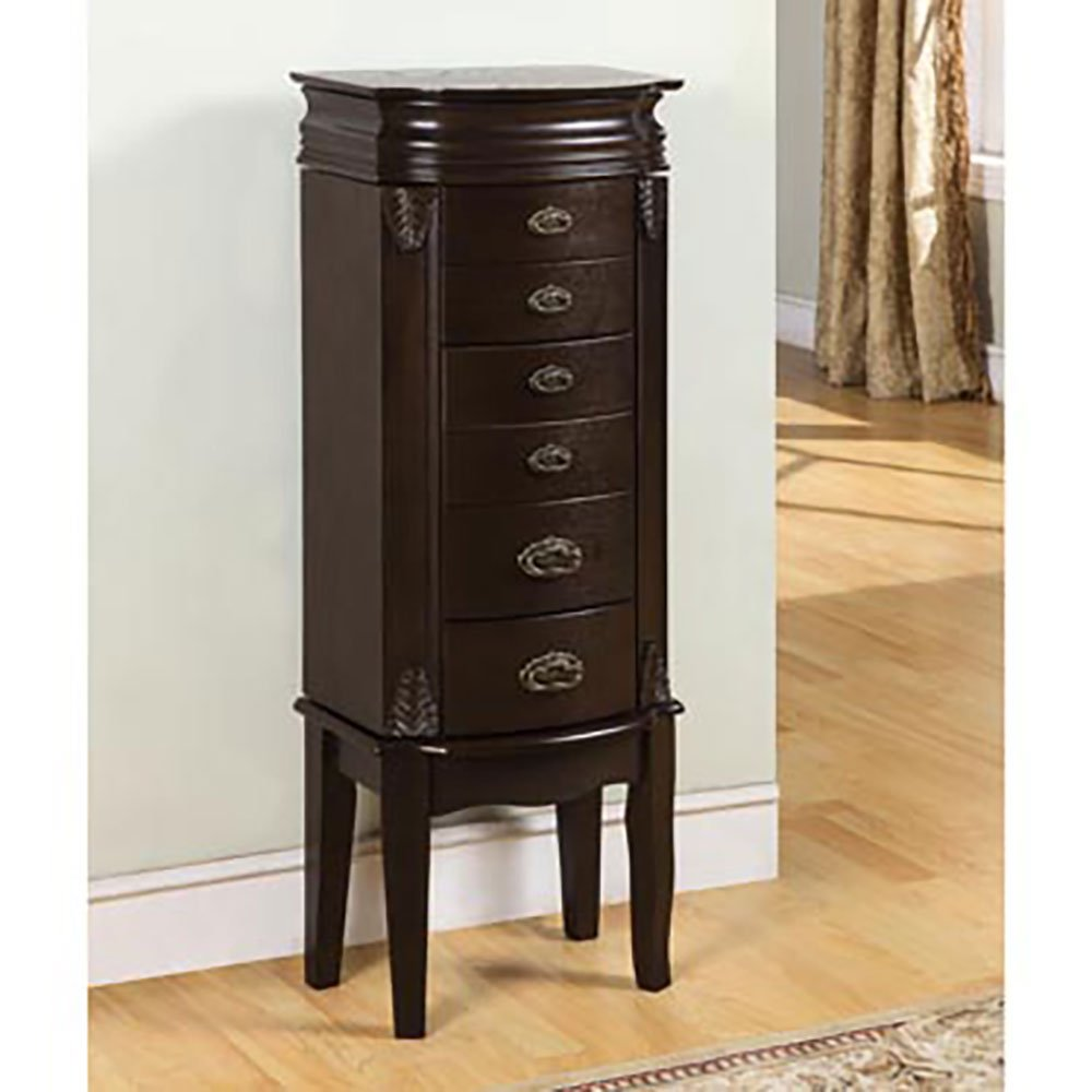 Powell Italian Influenced Transitional ''Espresso'' Jewelry Armoire