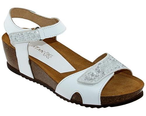 gamme exceptionnelle de styles comment choisir obtenir de nouveaux Xapatan 8067, Femme Nu-Pied Blanc Lisse: Amazon.fr ...