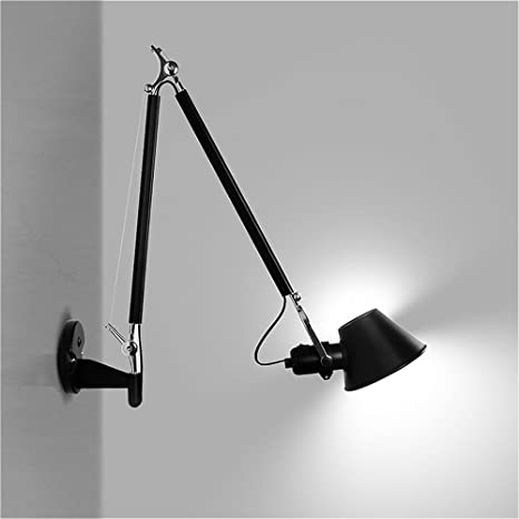 susuo lighting long swing arm wall lamp plug in wall sconces with