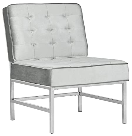 Ansel Accent Chair In Light Gray