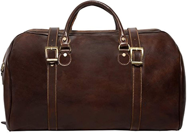 Alberto Bellucci Italian Leather Carry-on Tourist Duffel Bag