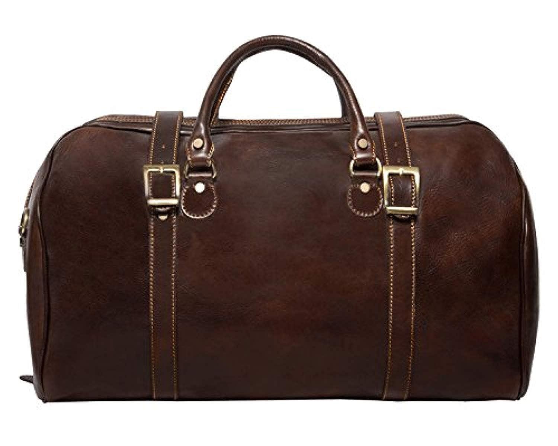 Image of Alberto Bellucci Italian Leather Carry-on Tourist Duffel Bag Luggage