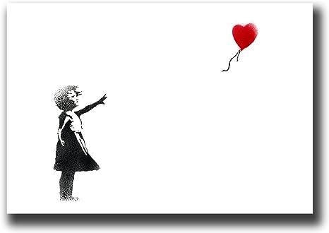 Panther Print Tableau Sur Toile Motif Ballon Banksy 50 8 X 76 2 Cm Encadre Et Pret A Etre Accroche Amazon Fr Cuisine Maison
