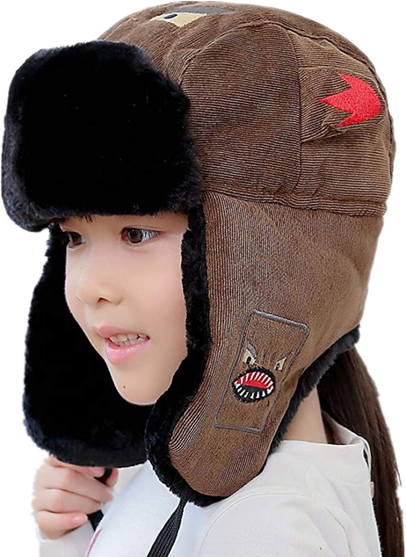 Winter Hat Family Bomber Hats Earflap Balaclava Warm Face Mask Outdoor Caps