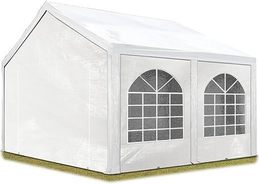 TOOLPORT Carpa de Fiesta 4x5 m Carpa para Fiestas 240g/m² Carpa de Lona PE Carpa de jardín Carpa para Fiestas Blanca Impermeable: Amazon.es: Jardín