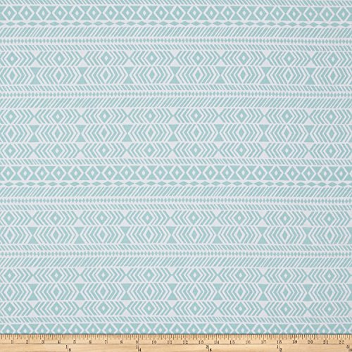 Joel Dewberry Wander Tribe Aqua Fabric by The Yard