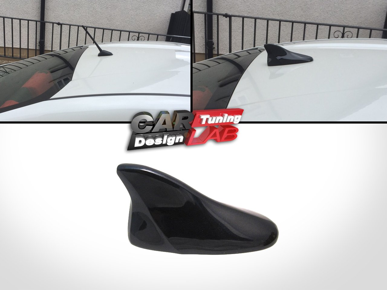 SHINNY BLACK Shark Fin Base Roof Antenna Cover painted Fits Scion FRS FR-S Subaru BRZ CAR LAB