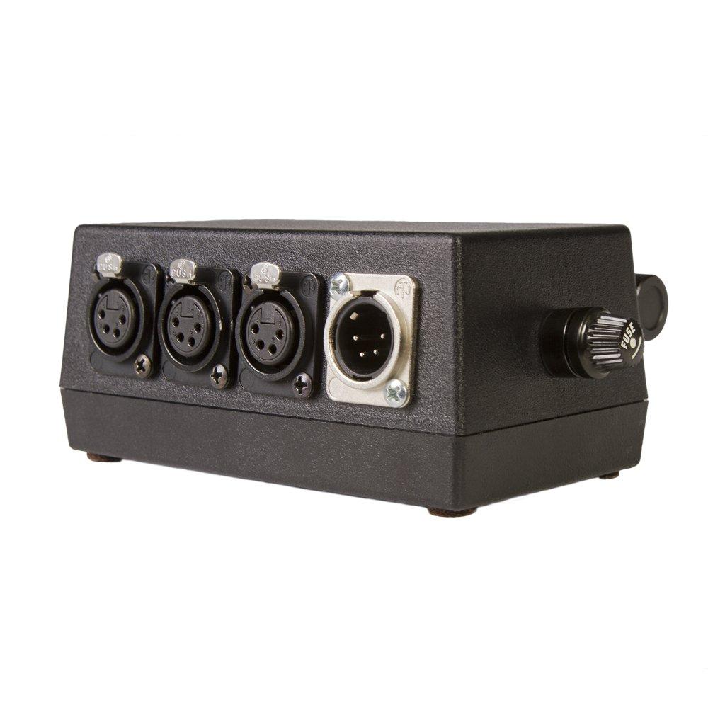 Ikan KPDM-100QR 4 Output Power Distribution Module with Quick Snap Rail Mount (Black)