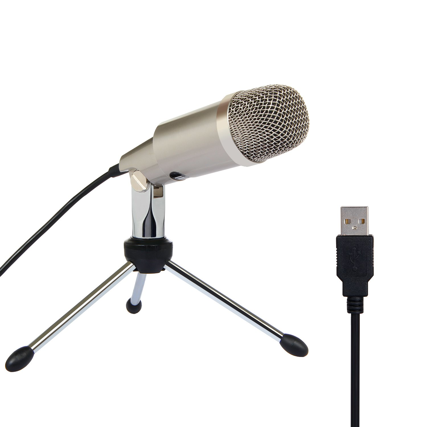 TONOR Microphone USB PC, Condenser Mic with Stand for Chatting/Skype/Youtube/Recording/Gaming/Podcasting for Macintosh or Windows Computer TN120494BL