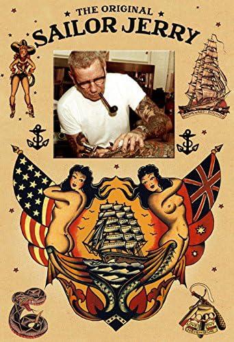 Sailor Jerry Tribute Tattoo Art 13 x 19 Photo