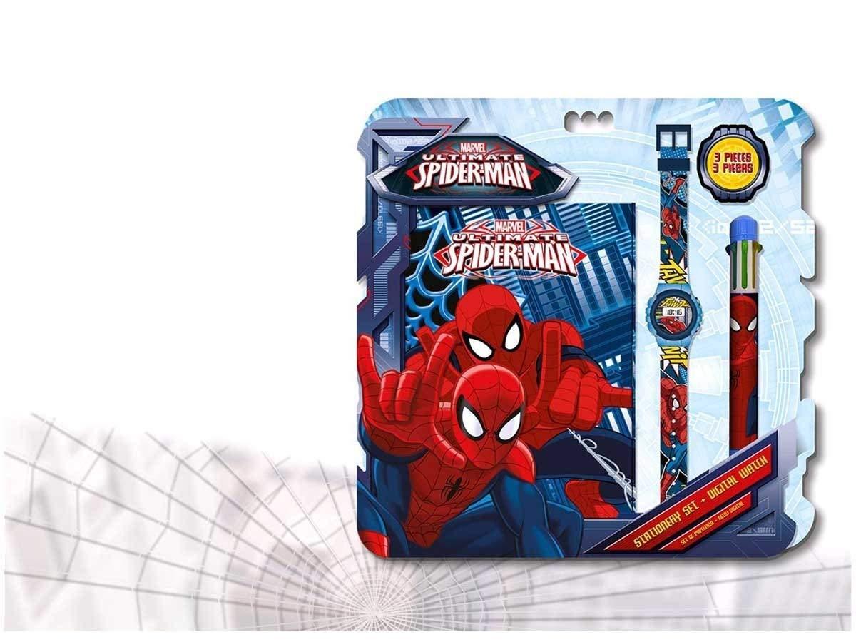 Spiderman - Set con Reloj, Diario y bolígrafo (Kids MV92382): Amazon.es: Juguetes y juegos