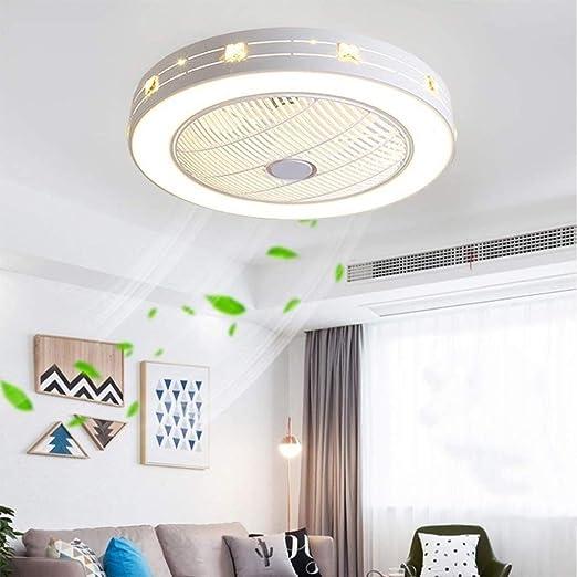 MYXMY Ventilador de Techo Luz LED de Tres Colores con Control ...