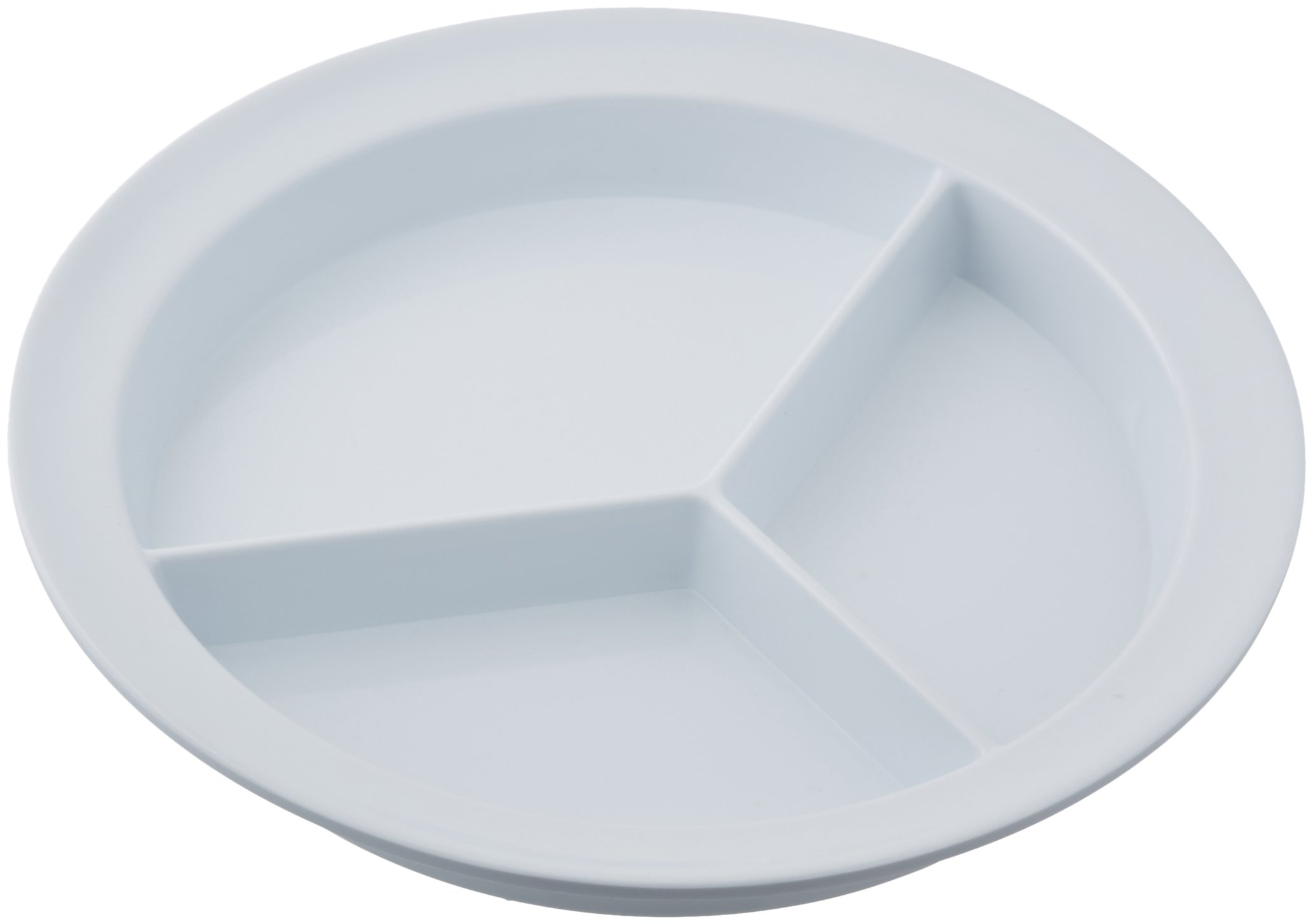 Sammons Preston Partitioned Scoop Dish, Melamine Plate with Dividers for Kids, Elderly, and Disabled, Divided Sections for Portion Control and Easy Scooping Walls for Limited Mobility by Sammons Preston