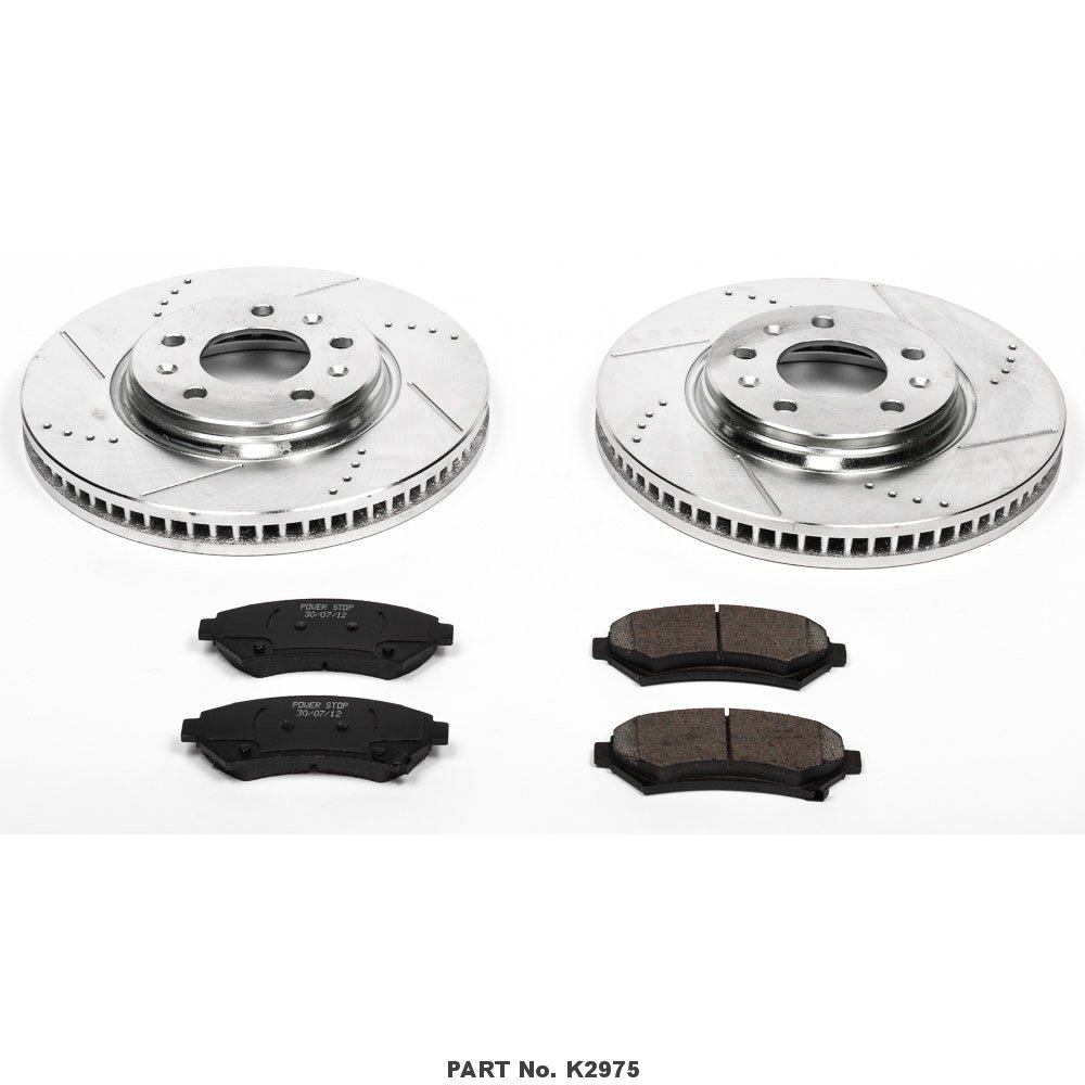 Power Stop K2975 Front Z23 Evolution Brake Kit with Drilled//Slotted Rotors and Ceramic Brake Pads