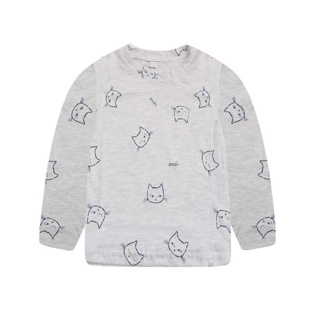 Baby Girls Boys Tops.Pollyhb Kids Toddler Baby Long Sleeve Hooded Sweatshirt T-Shirt