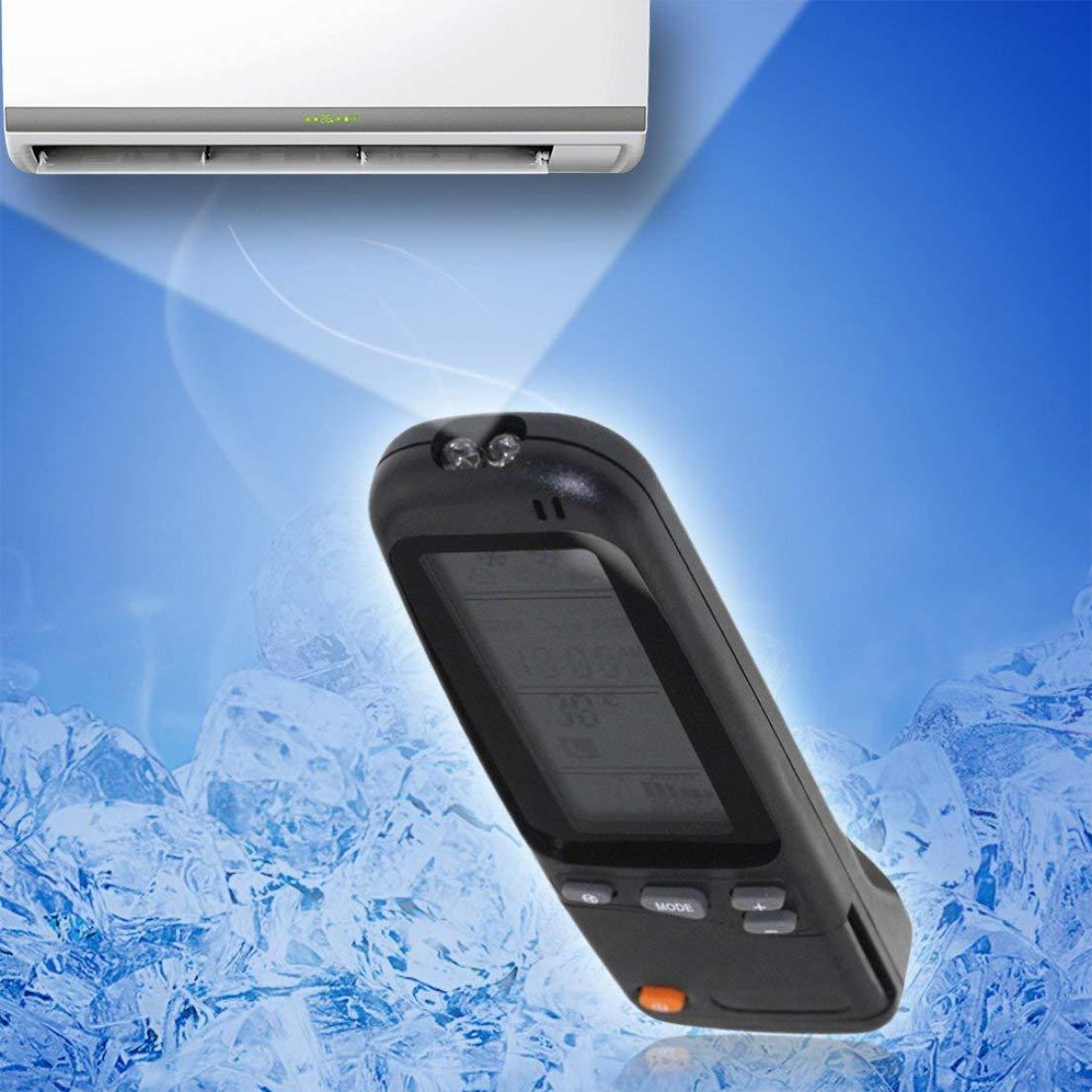 T/él/écommande Electro RC-3//4//7 pour Airwell Emailair pour YORK pour DAEWOO Climatiseur T/él/écommandeGray-Noir