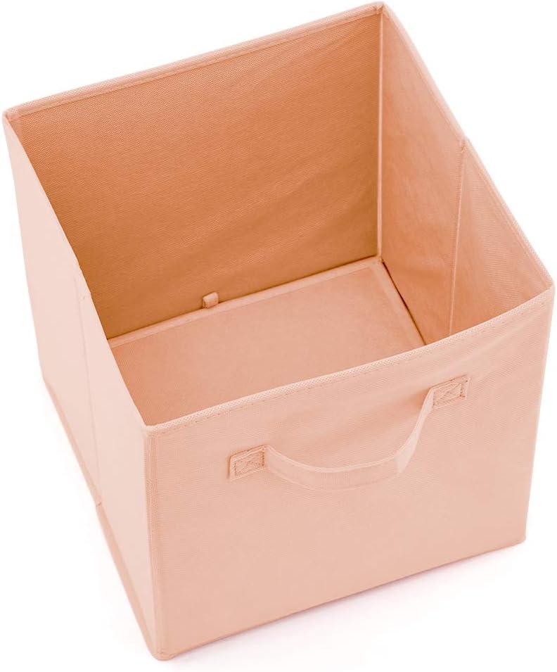 EZOWare Caja de Almacenaje con 6 pcs Caja de Tela para Almacenaje Gris