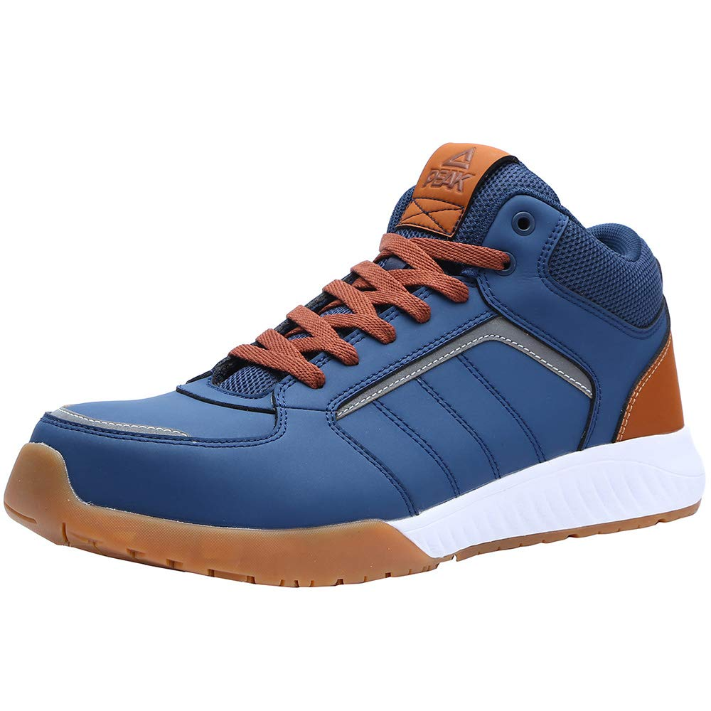 Unisex Steel Toe Work Shoes Industrial&Construction Shoes Puncture Proof Safety Shoes (man 8.5, 72012 blue) by PEAK (Image #2)