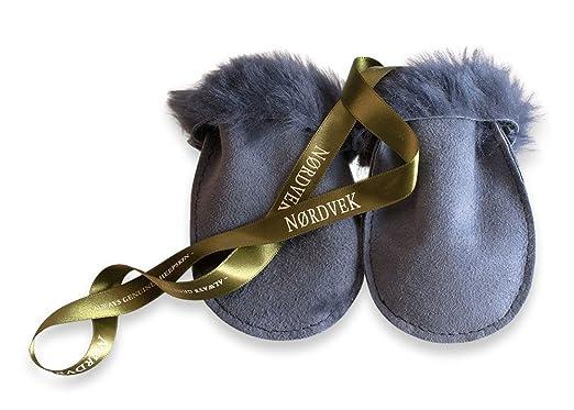 1b4d8060a023 Nordvek 100% Genuine Sheepskin Baby Mittens On A String 0-18 Months ...
