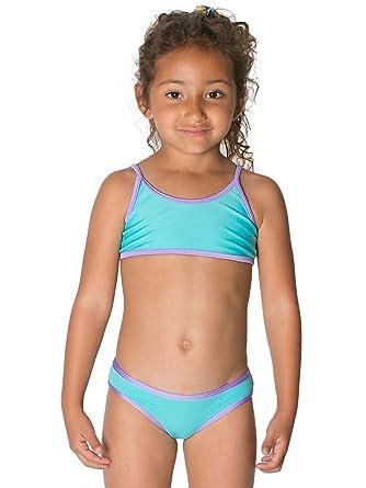 06b43f5e44 American Apparel Kids  Bikini Bottom - Light Turquoise   Light Purple   4  Years  Amazon.co.uk  Clothing
