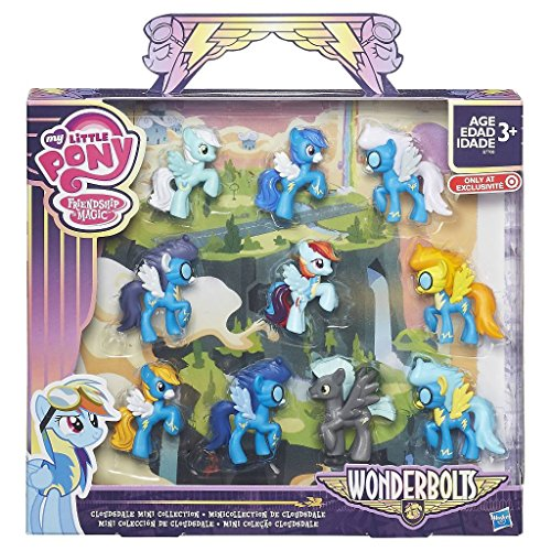 My Little Pony Friendship is Magic Wonderbolts Cloudsdale Mini Collection Exclusive 3 Mini Figure 10-Pack ()