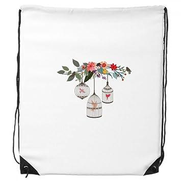 Jaula Flor estante cordón mochila bolso de mano compras regalo ...