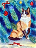 Caroline's Treasures 7155CHF Christmas Tree Cat Flag Canvas, Large, Multicolor Review