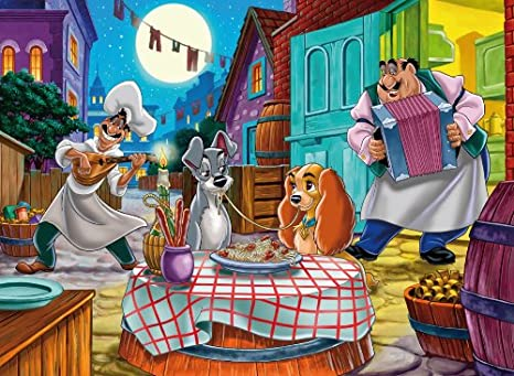 Clementoni 26870 Puzzle Lilli E Il Vagabondo Romantic Story 60