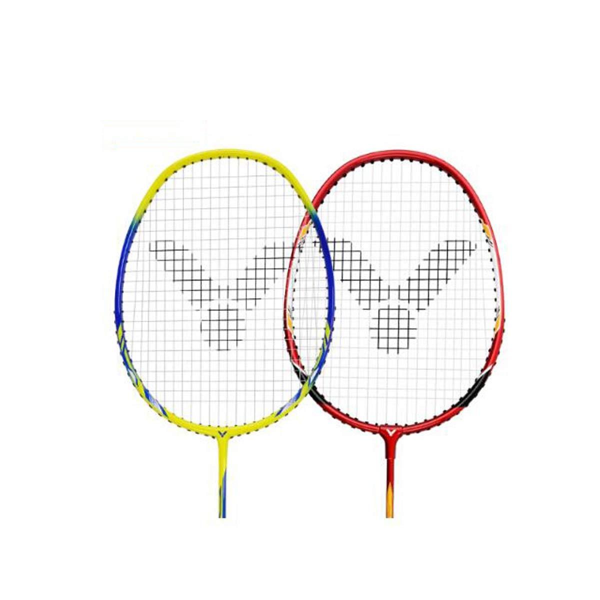 Tongboshi Badminton Racket, Double Shot, Offensive Full Carbon Badminton Racket, Aluminum Alloy Badminton Racket Badminton Racket, (Edition : C) by Tongboshi (Image #2)