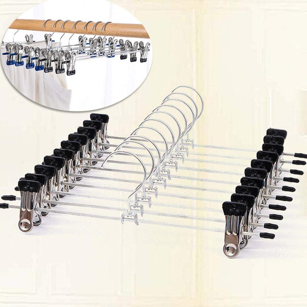 Ruior 10 Pcs Pants Hanging Rack Clothes Hanger Clip Tie Racks by Ruior