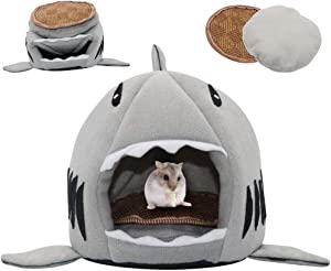 SCIROKKO Guinea Pig Bed - Small Pet Animals Bed, Cotton Warm Nest Mini House - Sleeping Mat for Dutch Pig Hamster Hedgehog Rat Chinchilla