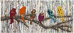 imax 89877 camara batik and newspaper bird wall decor - Bird Wall Decor