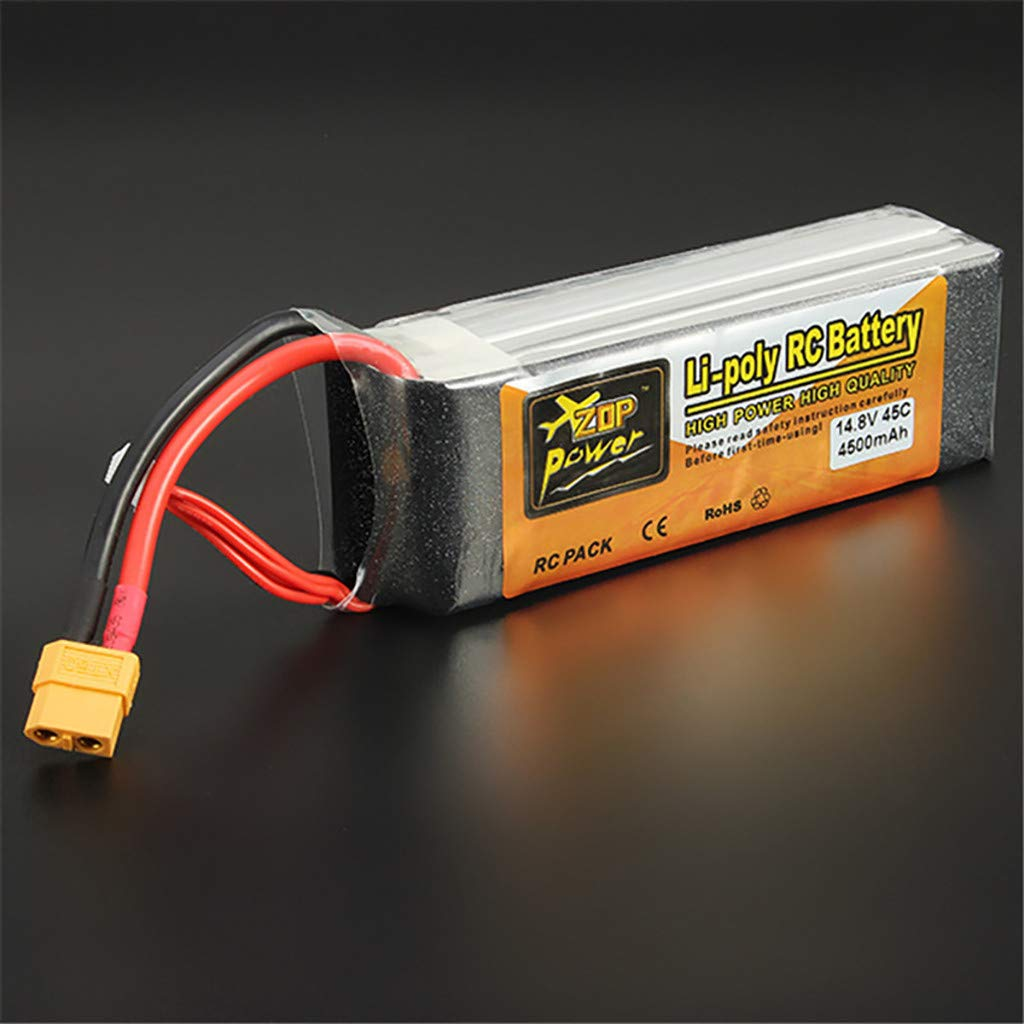 Giokfine 2019 ZOP Power 14.8V 4500mAh 4S 45C Battery XT60 Plug for RC Car Helicopter Part by Giokfine (Image #6)