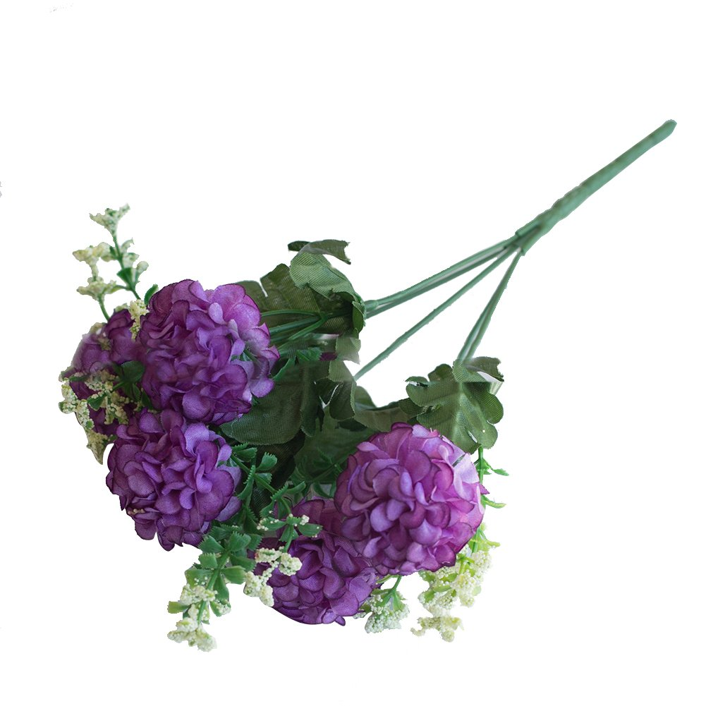 lightclub 造花1ブーケ 菊 花植物 ホーム オフィス パーティー 装飾 パープル HNM2QG9BDM6N430 B07HFVN7BJ パープル