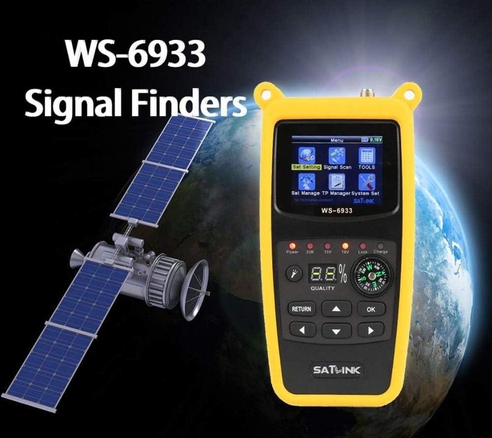 Calvas Original satlink satellite finder 6933 FTA C/&KU Band With LCD Display 2.1 inch DVB-S2 Meter Finder satelitte receiver