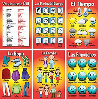 Set of Basic Spanish Posters #2 (Set of 6)