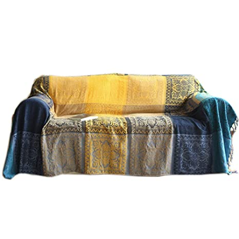 KWPAHD Funda de sofá Chenille Sofa Towels with Tassels Sofa ...