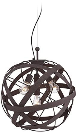 Orbital Weave 19 1 2 Wide Rust Metal Pendant Light