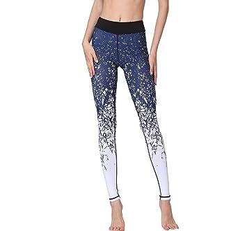Morbuy Pantalones De Yoga, Mujer Acuarela Imprimir Pantalón ...