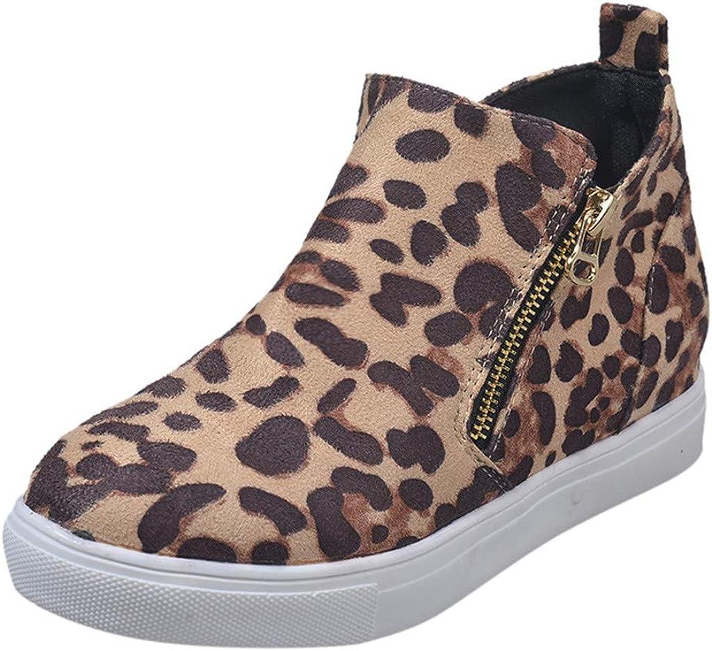40 EU,2- Giallo Sneaker Donna Scarpe Singole Piatte con Cerniera Casual Scarpe da Corsa per Studenti Stivaletti Taglie Forti