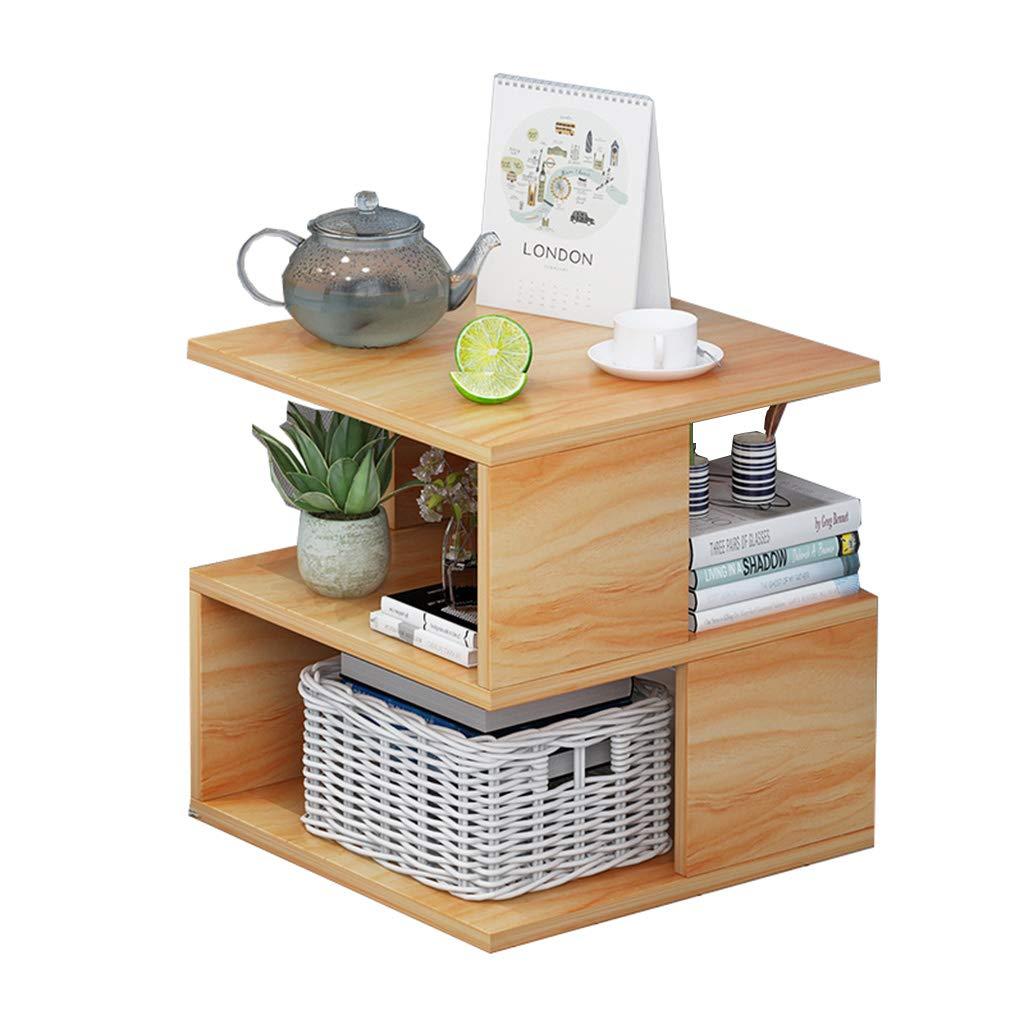 Walnut Simple Bedside Cabinet Locker Bedroom Small Bedside Cabinet Storage Cabinet 40  40  40cm Wood-Based Panel