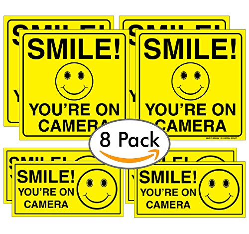 ((8 Pack) SMILE YOU'RE ON CAMERA BUNDLE (4) 6
