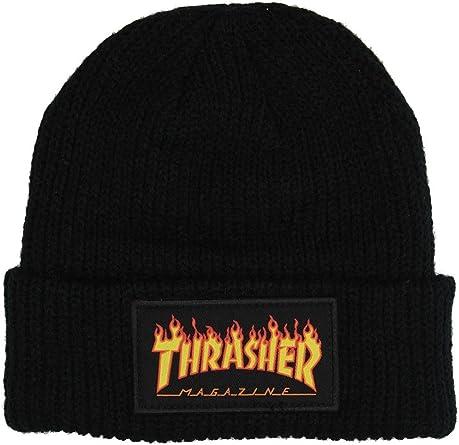 THRASHER - Gorro de Punto - para Hombre Negro Talla única: Amazon ...