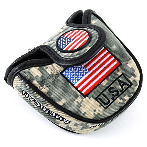 Army Headcover (HEAVY DUTY USA Military Mallet Putter Cover Headcover For Scotty Cameron Taylormade Odyssey 2ball)