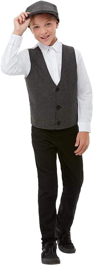1920s Children Fashions: Girls, Boys, Baby Costumes Smiffys 50981 20s Gangster Boy Kit Grey One Size £10.48 AT vintagedancer.com