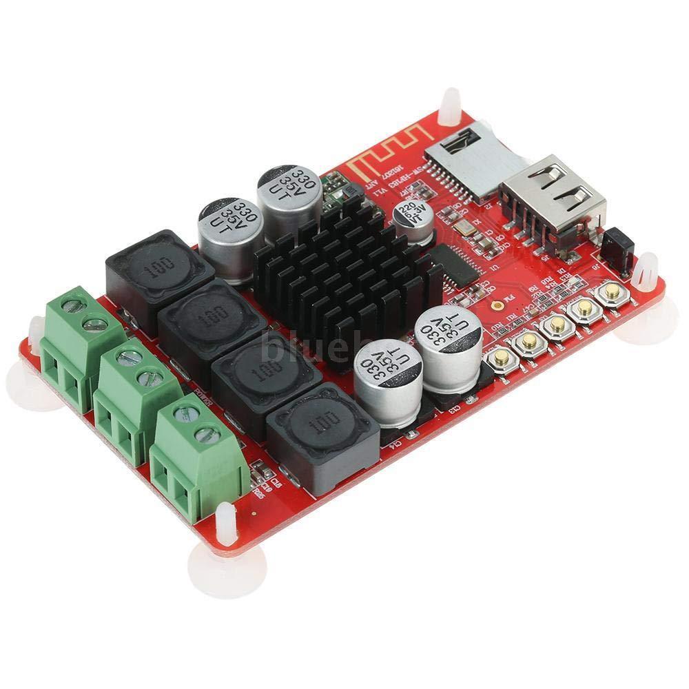 FidgetFidget Amplifier Board TPA3116 50W+50W Wireless BT 4.0 Audio Receiver Stereo 5 Buttons