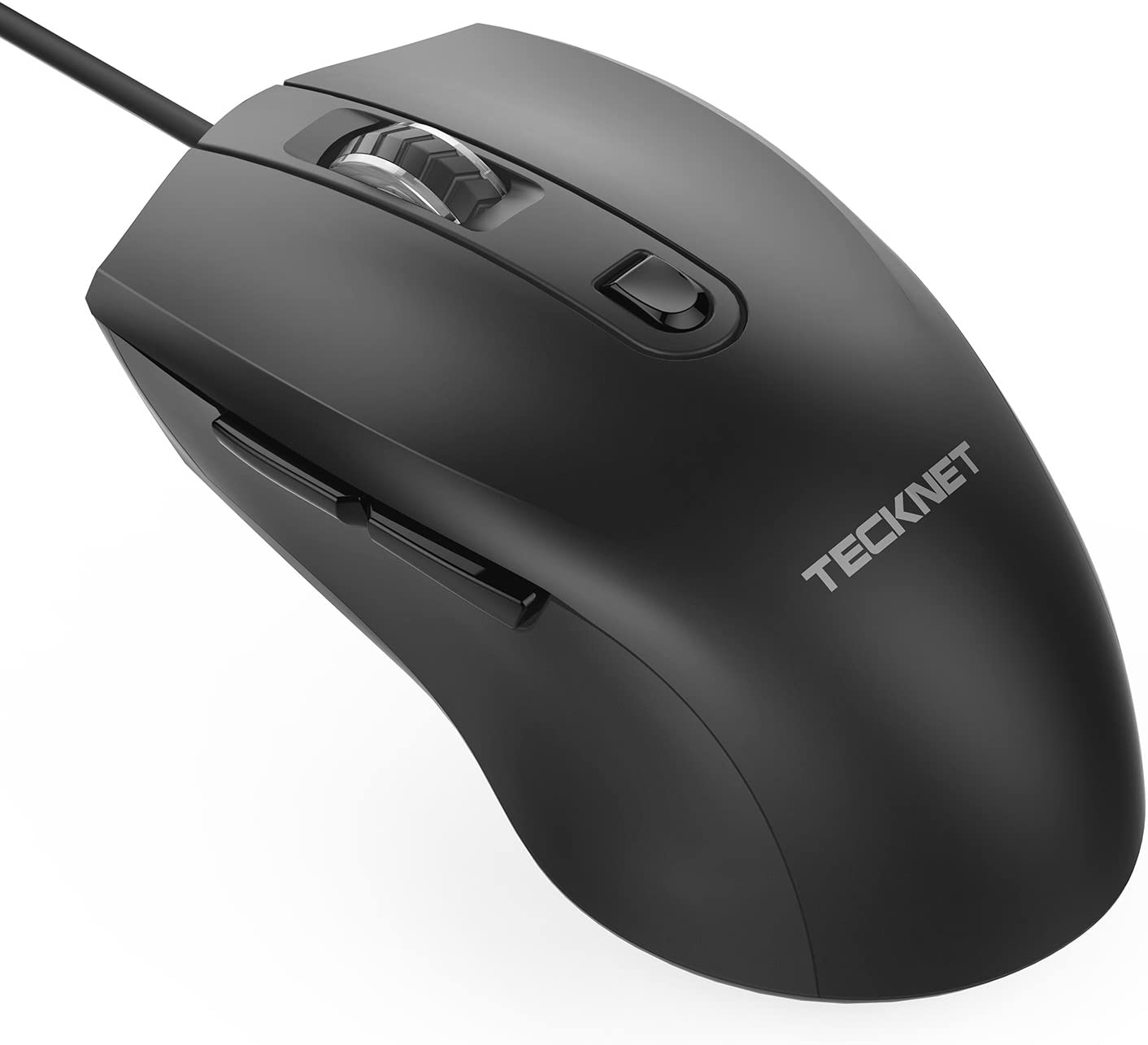 TeckNet 6-Button USB Wired Mouse Optical Computer Wired Mice 1000/1600 DPI, Office Business Mouse for Laptop Notebook, Fit for Windows7/8/10/XP/98, Vista